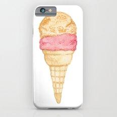 Watercolour Illustrated Ice Cream - Peony Pleasure iPhone 6 Slim Case
