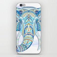 Blue Ethnic Elephant iPhone & iPod Skin