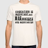 Education Is Importanter Mens Fitted Tee Natural SMALL