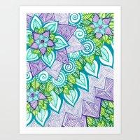 Sharpie Doodle 6 Art Print