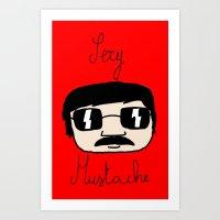 Sexy Mustache Art Print