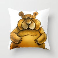 Beary sorry. Throw Pillow