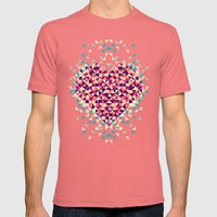 A heart is made of bits and pieces Mens Fitted Tee Pomegranate SMALL