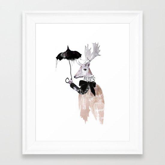 RainDeer Framed Art Print