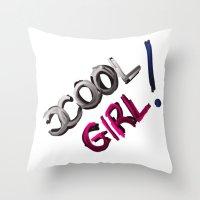 CCool Girl Throw Pillow