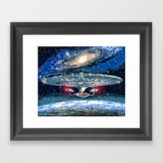 Star Trek Enterprise D Framed Art Print