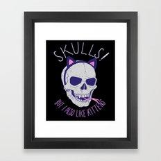 Skulls and Kittens Framed Art Print