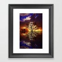 Night stream Framed Art Print