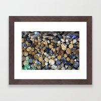 Wood Logs  Framed Art Print