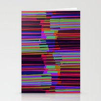Neon stripes. Stationery Cards