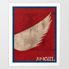 Minimalist Angel Art Print