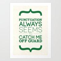 Punctuation Art Print