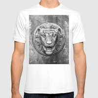 Classical Lion Mens Fitted Tee White SMALL
