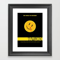 Wafflemen Framed Art Print