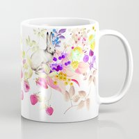 Soft Bunnies black Mug