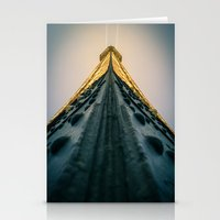 Paris, the top of the Eiffel Tower view from the second floor Stationery Cards