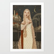 Lady Light  Art Print