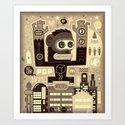 Pop Monk vintage Art Print