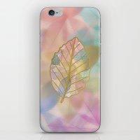 Colored Leaf Pattern iPhone & iPod Skin