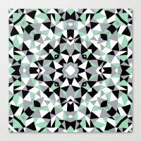 Abstract Kaleidoscope Mi… Canvas Print