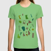 Annie Womens Fitted Tee Grass SMALL
