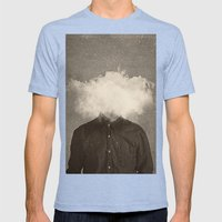 Head In the clouds Mens Fitted Tee Tri-Blue SMALL