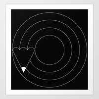 Drawing Circles Art Print