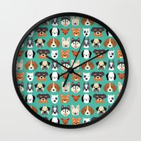 Dogs Dogs Dogs Wall Clock