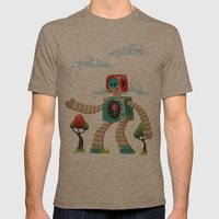 Woody Mecha Mens Fitted Tee Tri-Coffee SMALL
