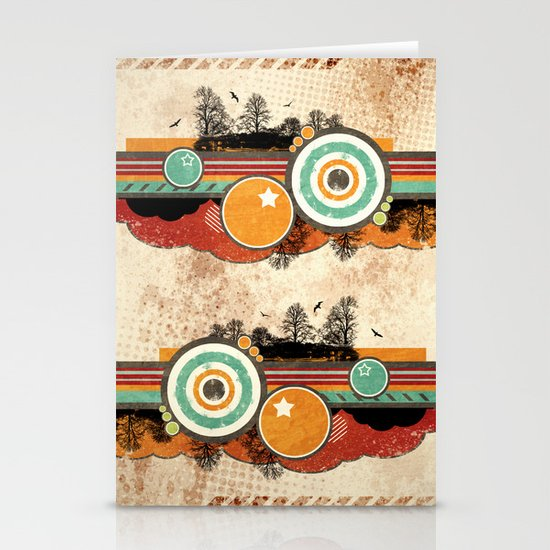 Retro Mash Up. Stationery Card