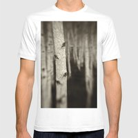 Silver Birch Mens Fitted Tee White SMALL