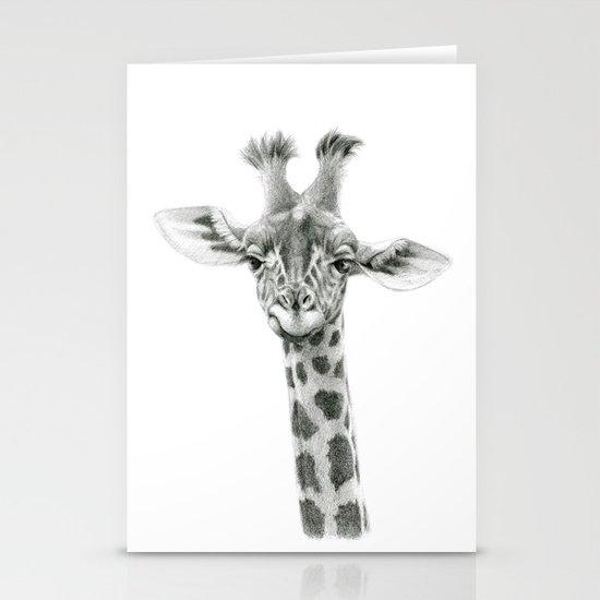 Young Giraffe  G2012-053 Stationery Card