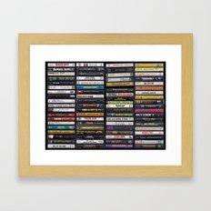 Old 80's & 90's Hip Hop Tapes Framed Art Print