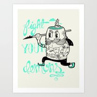 Fight Your Demons Art Print