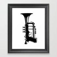 TestTrumpet Framed Art Print