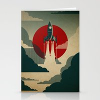 pop art Stationery Cards featuring The Voyage by The Art of Danny Haas