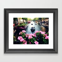 in love with Amster  Framed Art Print