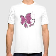 Moor Goldfish Mens Fitted Tee White SMALL