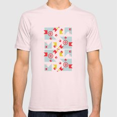 time (line) Mens Fitted Tee Light Pink SMALL