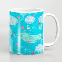 Flamingo Lake-blue Mug