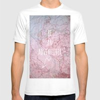 Be An Adventurer Mens Fitted Tee White SMALL