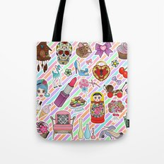 I Love Stickers Tote Bag
