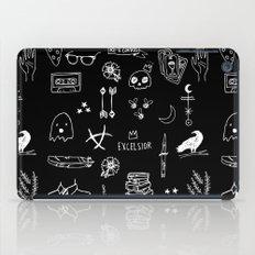 ravens doodles white iPad Case