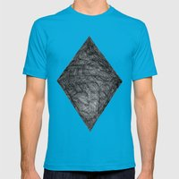 Graphite Diamond Mens Fitted Tee Teal SMALL