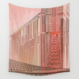 Wall Tapestry - Pinky Space / URBAN 25-07-16 - Menchulica