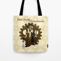 Dark Charity & Clever Jeanette Tote Bag