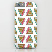 iPhone & iPod Case featuring Stripes & Triangles by Kelly Tucker