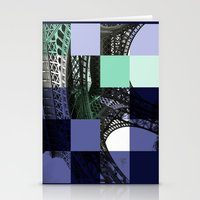 eiffel Stationery Cards featuring EIFFEL by Marcela Solana