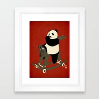 Keep Rolling Framed Art Print