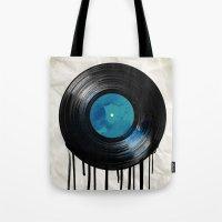 vinyl drip Tote Bag